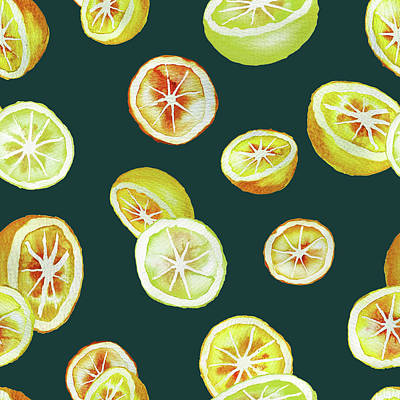 Lime Painting - Citrus by Varpu Kronholm