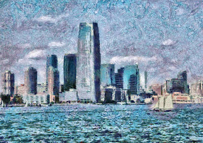 City - Ny - City Of The Future Print by Mike Savad