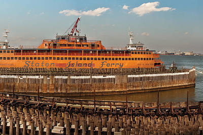 Staten Island Ferry Photograph - City - Ny - The Staten Island Ferry by Mike Savad