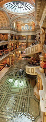 City - Vegas - Cesar's - The Forum Shops At Cesar's Palace Print by Mike Savad