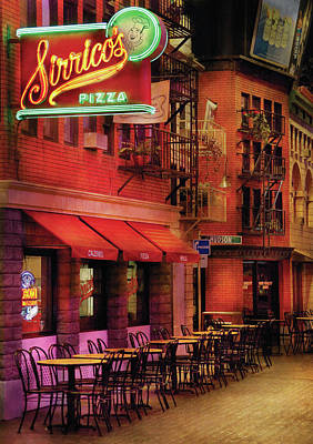 City - Vegas - The Pizza Joint Art Print by Mike Savad