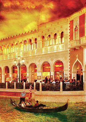 City - Vegas - Venetian - Life At The Palazzo Print by Mike Savad