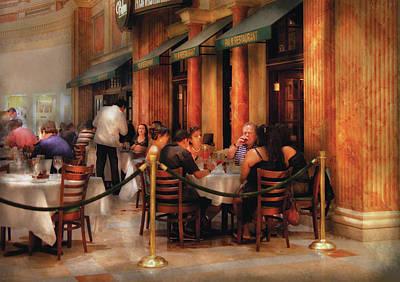 City - Venetian - Dining At The Palazzo Art Print by Mike Savad