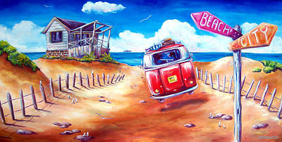 Painting - City 2 Surf by Deb Broughton
