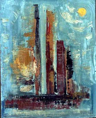 Painting - City Abstraction by Anand Swaroop Manchiraju