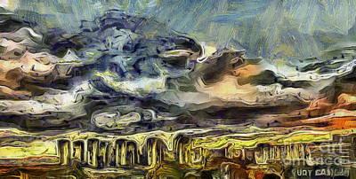 Mixed Media - City After by Yury Bashkin