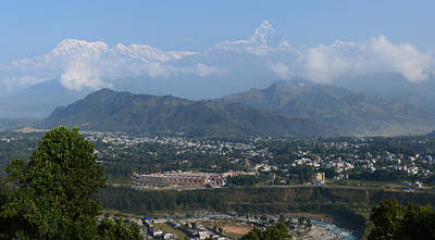 Photograph - City And Annapurna  View  by Atul Daimari