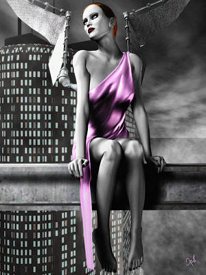 Digital Art - City Angel - 1 by Bob Orsillo