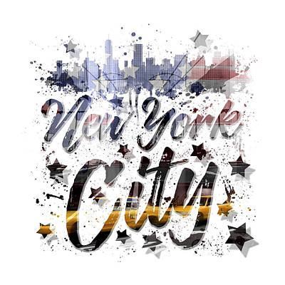 Photograph - City-art Nyc Composing - Typography by Melanie Viola