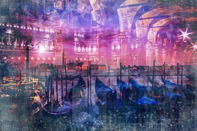 Canals Digital Art - City-art Venice Composing by Melanie Viola
