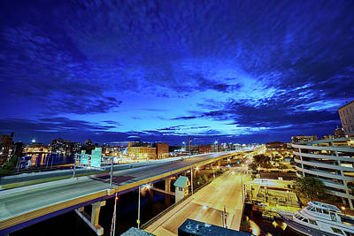 Photograph - City At Dusk by CJ Schmit