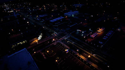 Photograph - City At Night From Above by Ant Pruitt