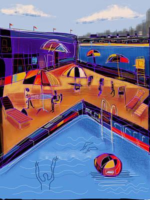 Digital Art - City Beach Club by Russell Pierce