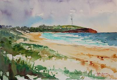 Painting - City Beach by Kathy  Karas