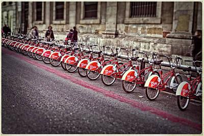 Photograph - City Bikes Barcelona Spain by Stulaine Studios