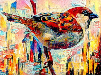 Digital Art - City Bird by Yury Malkov