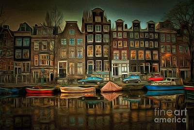 Royalty Free Images Painting - City Block 900 In Ambiance by Catherine Lott