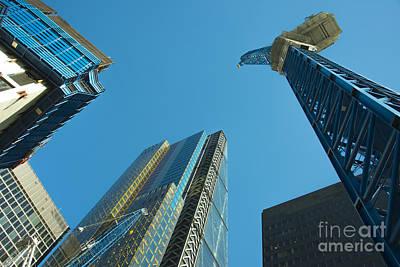 Tower Crane Photograph - City Blue  by Rob Hawkins