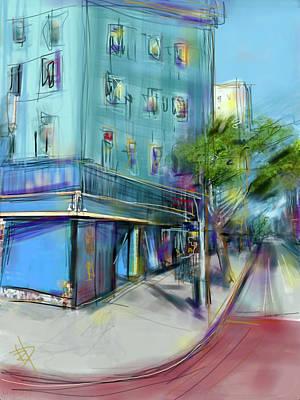 City Blue Art Print by Russell Pierce