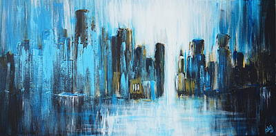Painting - City Blues by Theresa Marie Johnson