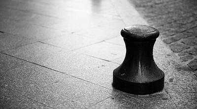 Photograph - City Bollard by Helen Northcott