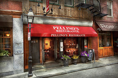 Photograph - City - Boston, Ma - Pellino's Ristorante by Mike Savad