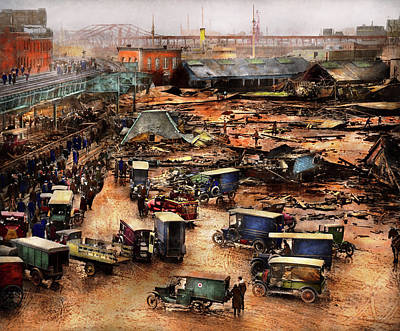 Photograph - City - Boston Ma - The Great Molasses Flood 1919  by Mike Savad