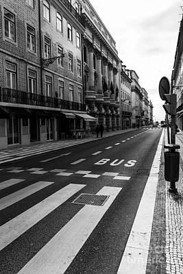 Crosswalk Photograph - City Bus by Henrique Silva