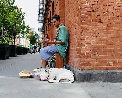 Photograph - City Busker by Ryan Shapiro