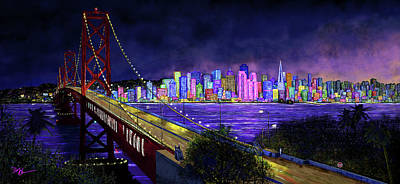 Digital Art - City By The Bay by Don Olea