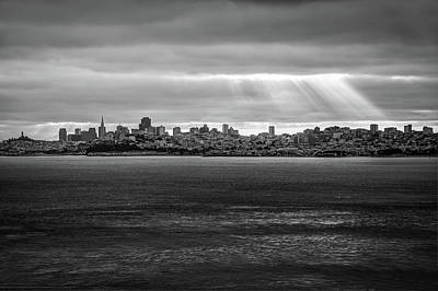 Photograph - City By The Bay - San Francisco California Skyline by Gregory Ballos