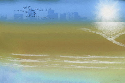 Digital Art - City By The Sea - Painting by Ericamaxine Price