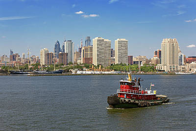 Photograph - City - Camden Nj - The City Of Philadelphia by Mike Savad