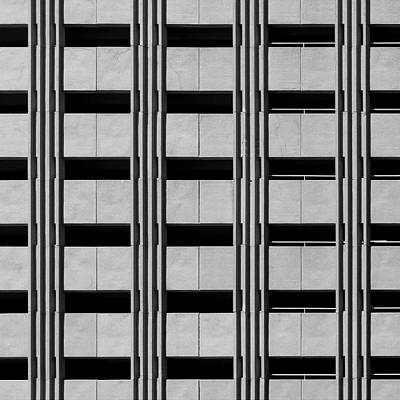 Photograph - City Car Park Grids by Stuart Allen