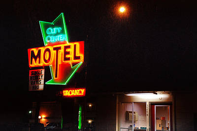 Photograph - City Center Motel by Kathleen Grace