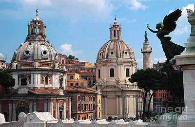 Photograph - Rome Center At Piazza Venezia by Greta Corens