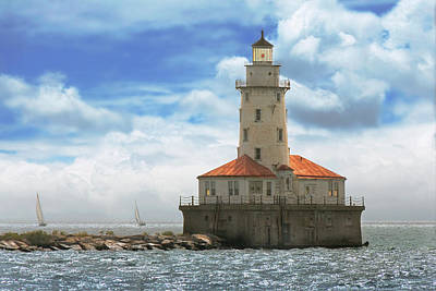 Third-oldest Photograph - City - Chicago Il - Chicago Harbor Lighthouse by Mike Savad