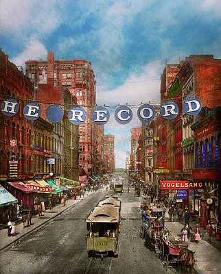 Photograph - City - Chicago Il - Just For The Record 1900 by Mike Savad