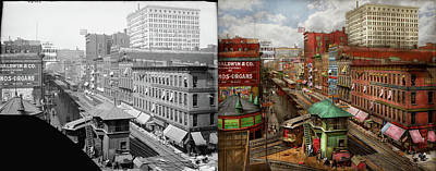 Photograph - City - Chicago - Piano Row 1907 - Side By Side by Mike Savad