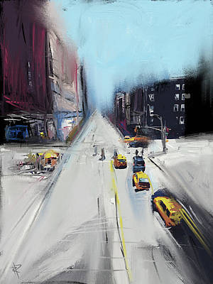City Scenes Mixed Media - City Contrast by Russell Pierce