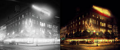 Xmas Photograph - City - Dc - Parker And  Bridget Co 1921 - Side By Side by Mike Savad