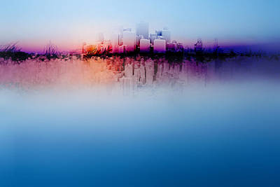 Nature Center Mixed Media - City Dream by Terry Davis