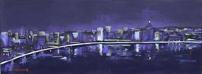 Painting - City Dreams by Carolyn Hartling