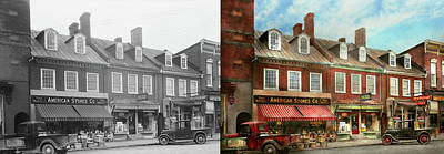 Photograph - City - Easton Md - A Slice Of American Life 1936 - Side By Side by Mike Savad
