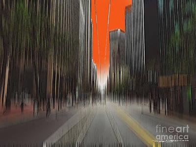 Digital Art - City Edge by Roger Lighterness