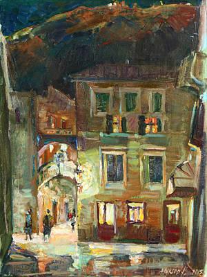 Painting - City Falls Asleep by Juliya Zhukova
