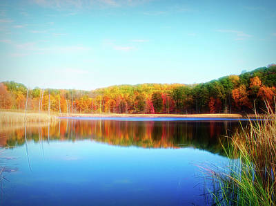 Photograph - City Flare Autumn Pond by Aimee L Maher Photography and Art Visit ALMGallerydotcom