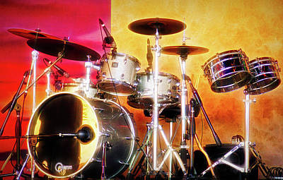 Photograph - City Flare Drum Set by Aimee L Maher Photography and Art Visit ALMGallerydotcom