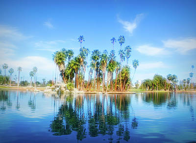 Photograph - City Flare Palm Tree Reflections by Aimee L Maher Photography and Art Visit ALMGallerydotcom