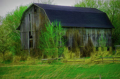 Photograph - City Flare Rustic Barn Close Up by Aimee L Maher ALM GALLERY
